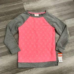 Cat & Jack Shirts & Tops - Valentine's Little Girls Heart Crewneck Sweater
